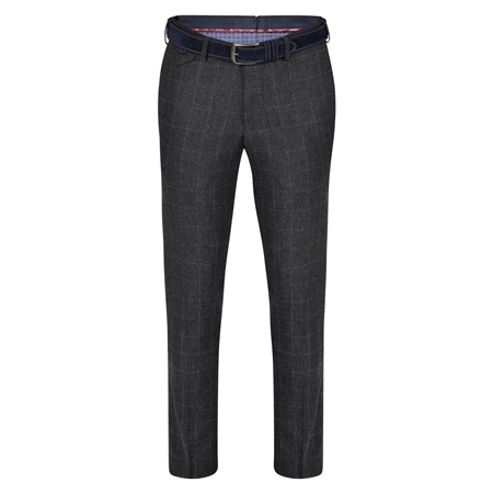 Grey Moyra Checked Slim Fit Trouser  - Click to view a larger image