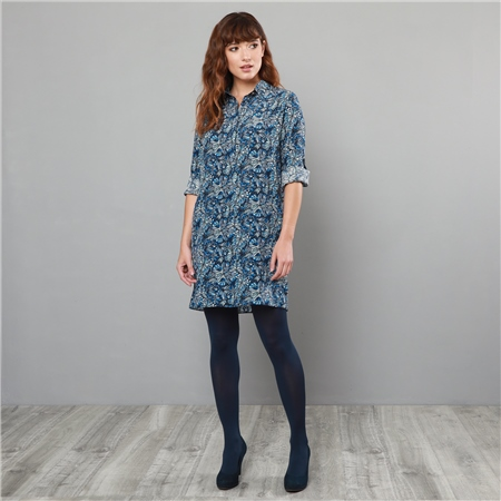 Navy Liberty Print Scarlett Shirt Dress  - Click to view a larger image