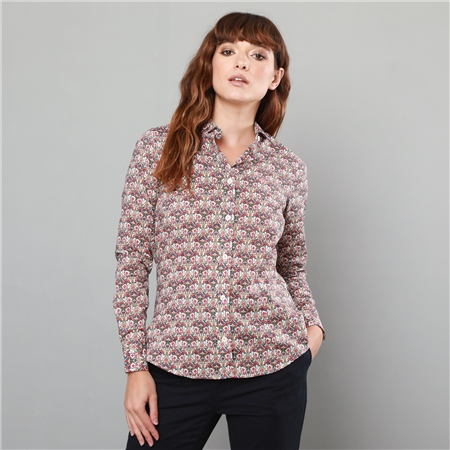 Multicoloured Hannah Liberty Butterfly Print Classic Fit Shirt  - Click to view a larger image