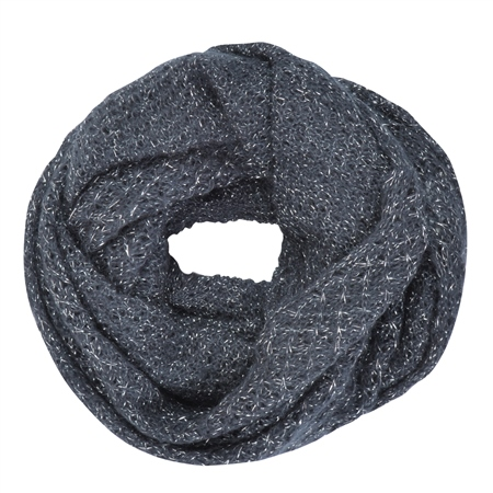 Luxury Navy Loose Knit Snood  - Click to view a larger image