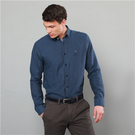 Blue Tullagh Button Down Classic Fit Shirt  - Click to view a larger image