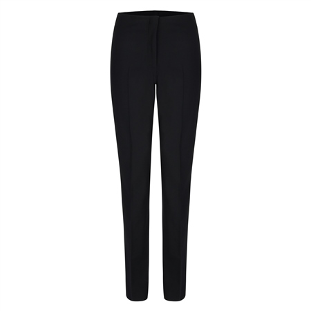 Black Fahan Stretch Tailored Fit Trousers  - Click to view a larger image