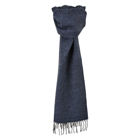 Blue & Navy Puppytooth Scarf  - Click to view a larger image