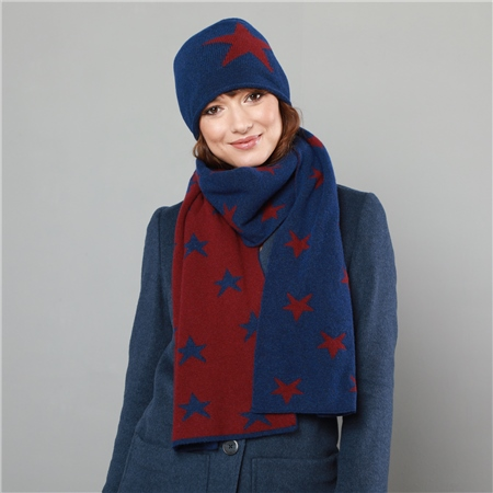 Blue & Red Star Hat  - Click to view a larger image