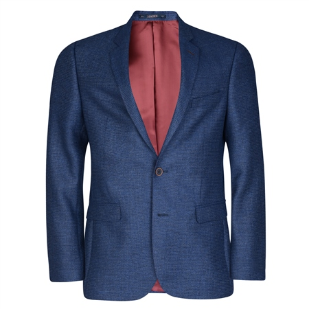 Blue Micro Design Tailored Fit Jacket  - Click to view a larger image