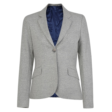 Grey Lily Geometric Weave Tailored Fit Blazer  - Click to view a larger image