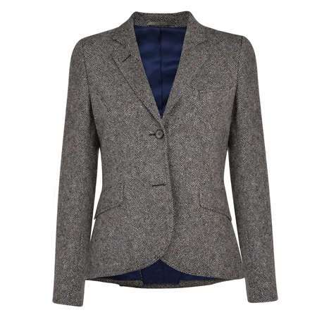 Charcoal Lily Salt & Pepper Tweed Blazer  - Click to view a larger image
