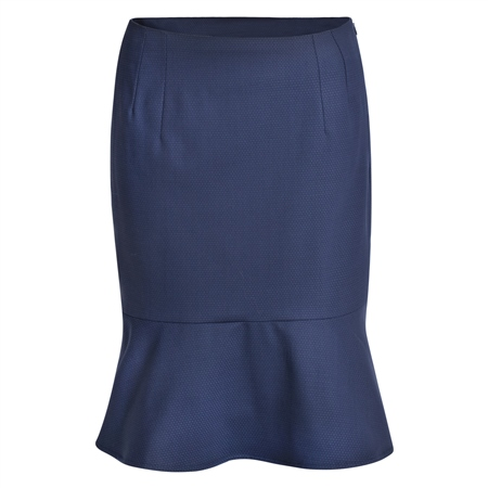 Navy Petula Geometric Skirt  - Click to view a larger image