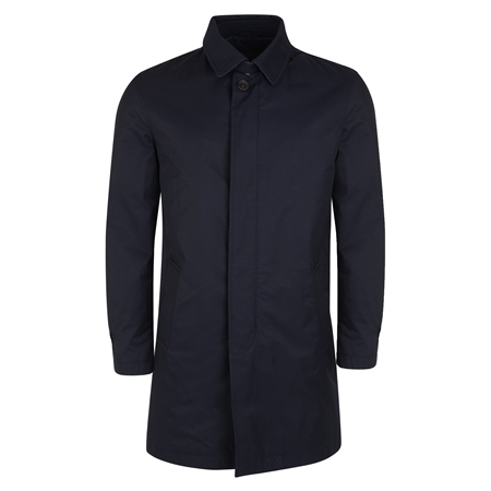 Navy Delvin Classic Fit Mac Raincoat  - Click to view a larger image
