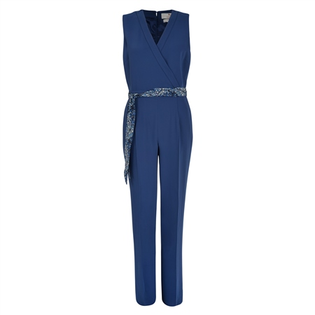 Blue Jade Tailored Fit Jumpsuit  - Click to view a larger image