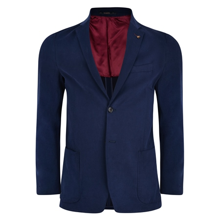 Navy Gweebarra Unstructured Patch Pocket Tailored Fit Jacket  - Click to view a larger image