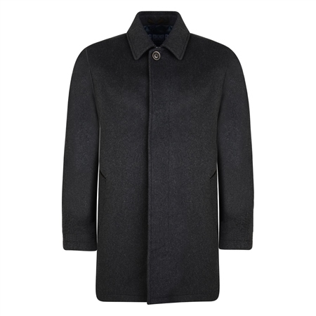 Charcoal Wool & Cashmere Edergole Coat  - Click to view a larger image
