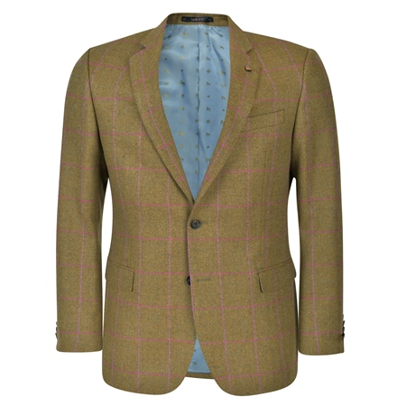 Mossy Brown Check Country Tweed Classic Fit Jacket  - Click to view a larger image