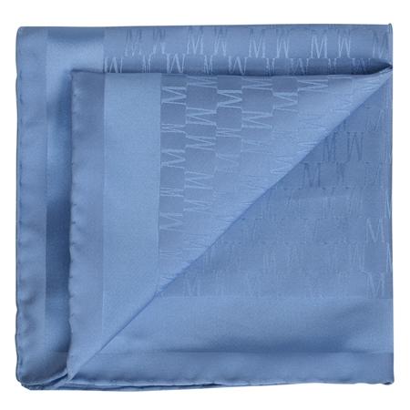 Blue M Design Silk Jacquard Pocket Square  - Click to view a larger image