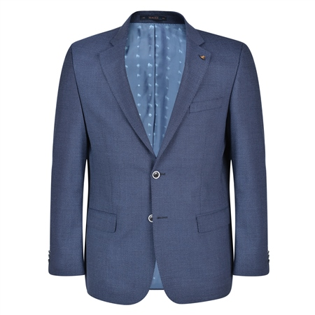 Navy Micro-Design Spring Classic Fit Blazer  - Click to view a larger image