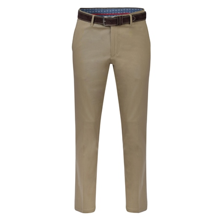 Olive Dungloe Mill-Washed Classic Fit Trouser  - Click to view a larger image