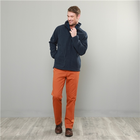 Orange Dungloe Mill-Washed Classic Fit Trouser  - Click to view a larger image
