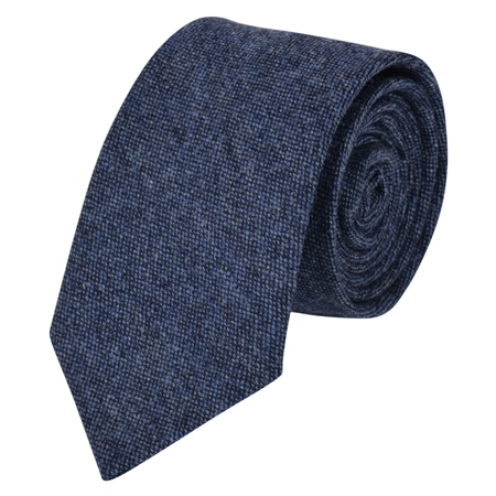 Blue Salt & Pepper Donegal Tweed Tie  - Click to view a larger image