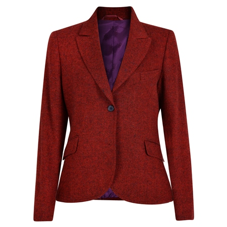 Red Lily Salt & Pepper Donegal Tweed Blazer  - Click to view a larger image