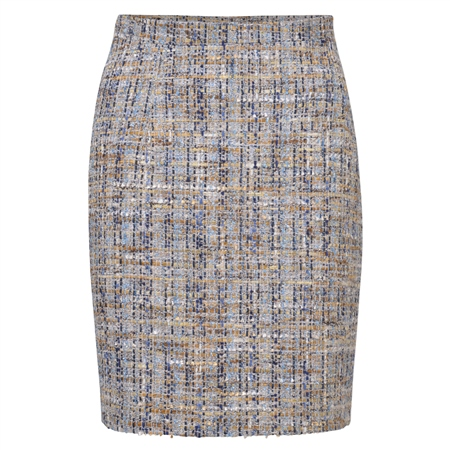Oat, Blue & Gold Carey Skirt  - Click to view a larger image