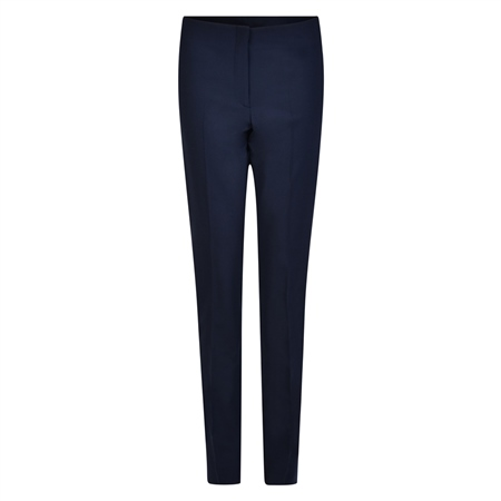 Navy Fahan Stretch Tailored Fit Trousers  - Click to view a larger image