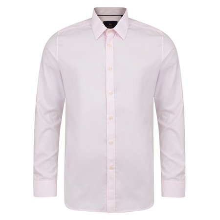 Pink Altahan Jacquard Classic Fit Shirt  - Click to view a larger image