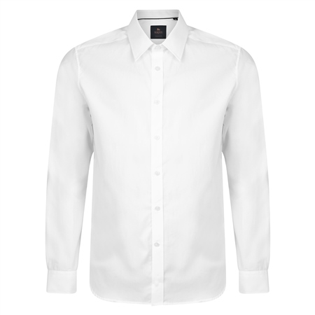White Altahan Jacquard Tailored Fit Shirt  - Click to view a larger image