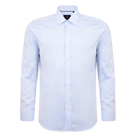 Blue Ardbane Double Cuff Classic Fit Shirt  - Click to view a larger image
