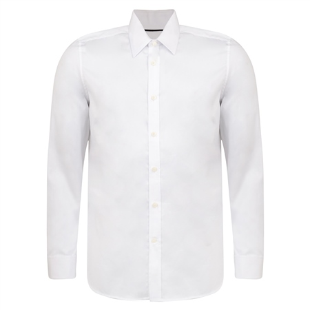 White Ardbane Double Cuff Tailored Fit Shirt  - Click to view a larger image