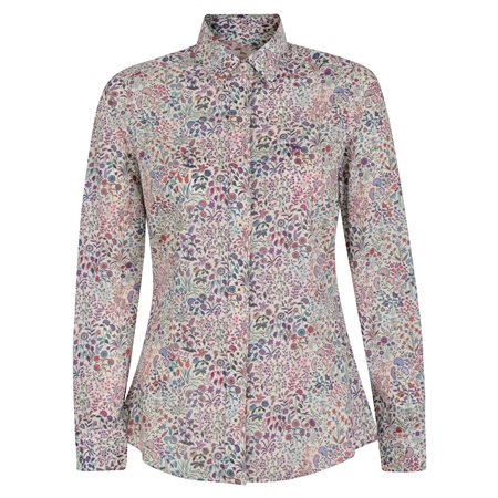 Lilac Hannah Shepherdly Song Liberty Print Classic Fit Shirt  - Click to view a larger image