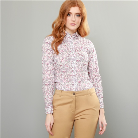 Pink Hannah Devon Dance Liberty Print Classic Fit Shirt  - Click to view a larger image