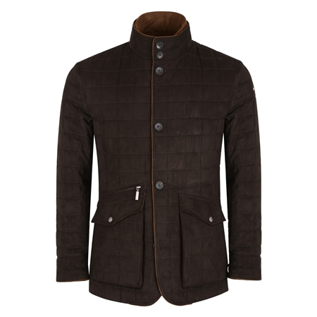 Brown Glenveigh Quilted Classic Fit Jacket 1