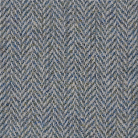 Turquoise Limited Edition Herringbone Flecked Donegal Tweed  - Click to view a larger image
