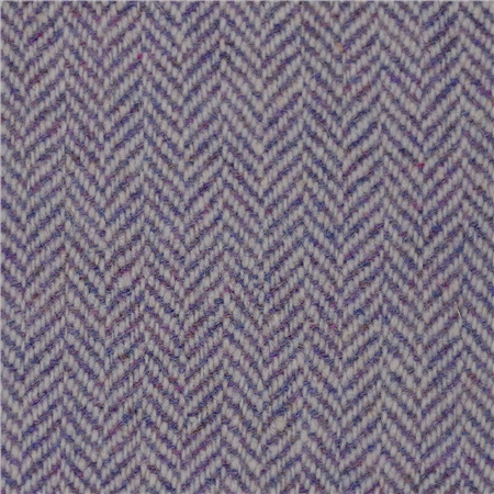 Lilac Limited Edition Herringbone Flecked Donegal Tweed  - Click to view a larger image