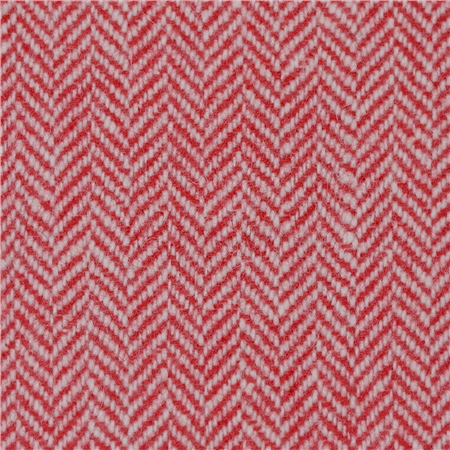 Red Limited Edition Herringbone Flecked Donegal Tweed  - Click to view a larger image