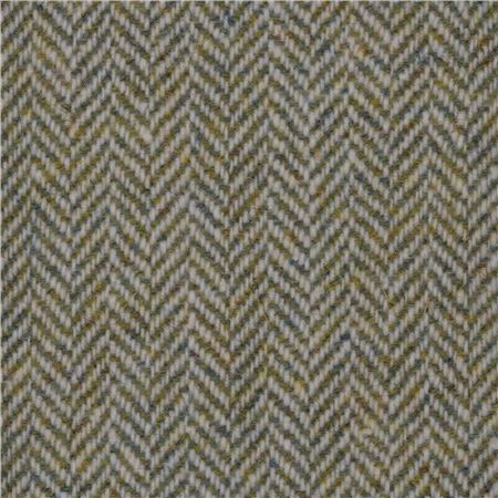 Green Limited Edition Herringbone Flecked Donegal Tweed  - Click to view a larger image