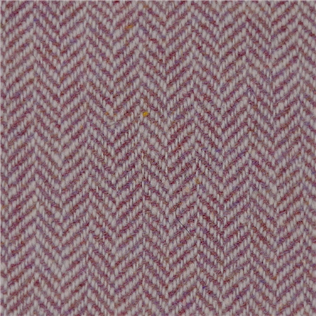 Raspberry Limited Edition Herringbone Flecked Donegal Tweed  - Click to view a larger image