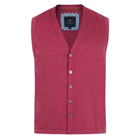 Fuchsia Kilgole Knitted Waistcoat  - Click to view a larger image