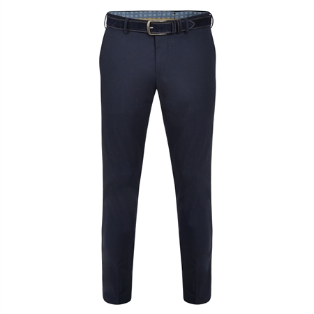Navy Balloor Classic Fit Trousers  - Click to view a larger image