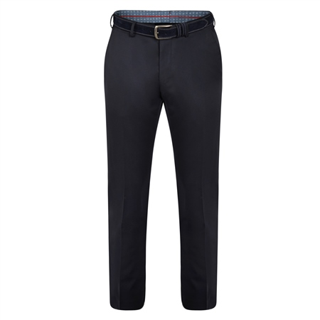 Dark Navy Balloor Classic Fit Trousers  - Click to view a larger image