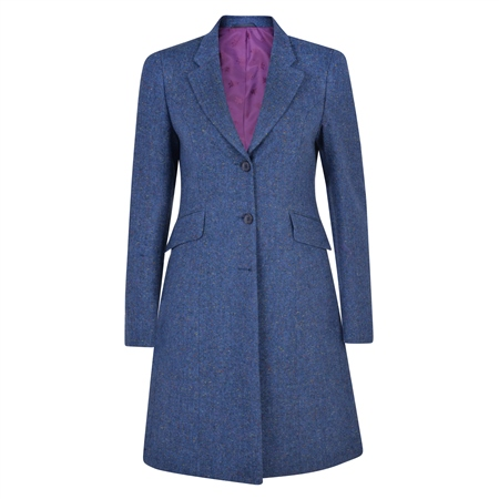 Navy Grace Salt & Pepper Donegal Tweed Jacket  - Click to view a larger image