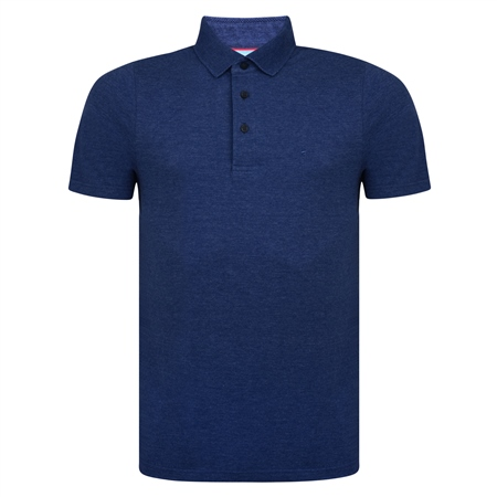 Navy Marfagh Pique Classic Fit Polo Shirt  - Click to view a larger image