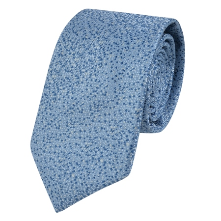 Blue Micro Design Tie  - Click to view a larger image