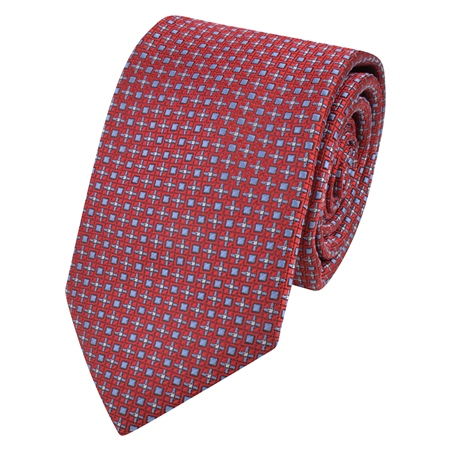 Red Dotted Print Tie  - Click to view a larger image