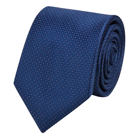 Navy Spotted Design Tie  - Click to view a larger image