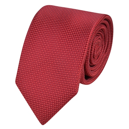Red Geometric Dotted Tie  - Click to view a larger image