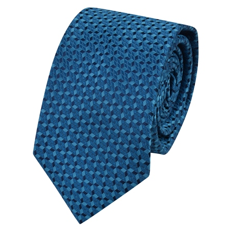 Teal Geometric Design Tie  - Click to view a larger image