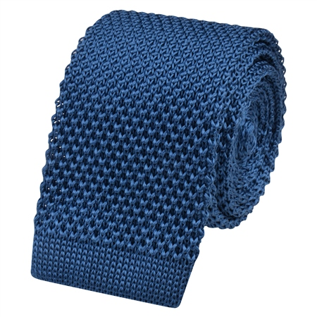 Teal Silk Knitted Tie  - Click to view a larger image
