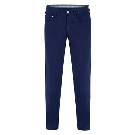Navy Finver Tailored Fit Trousers  - Click to view a larger image
