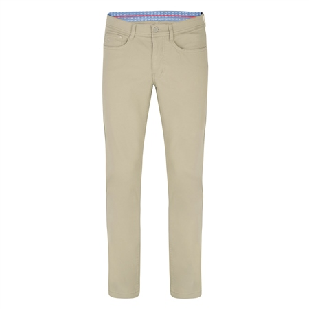 Safari Green Finver Tailored Fit Trousers  - Click to view a larger image